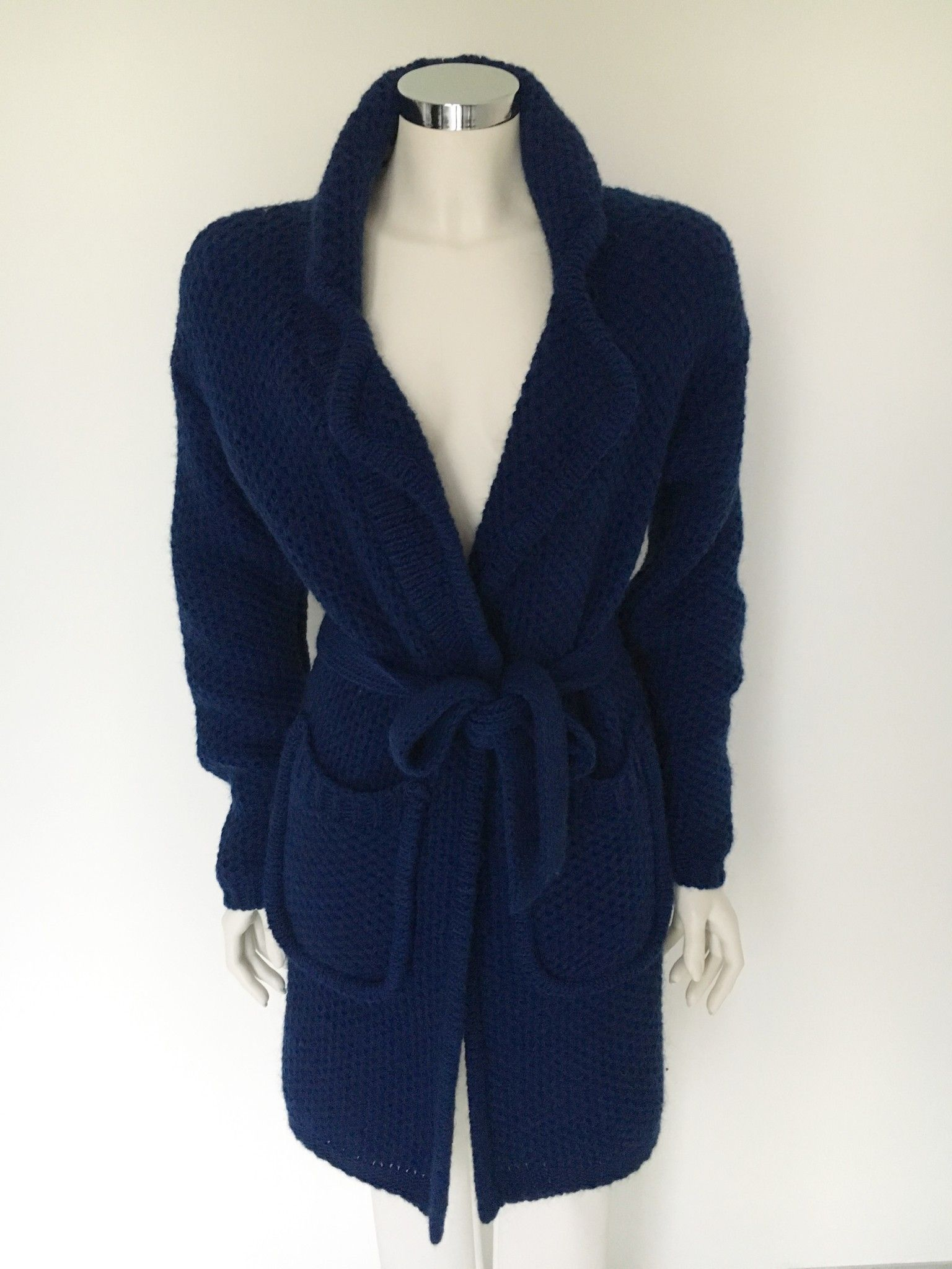 LadyBug Thick Wool Long Cardigan with Belt Cod.3016Q