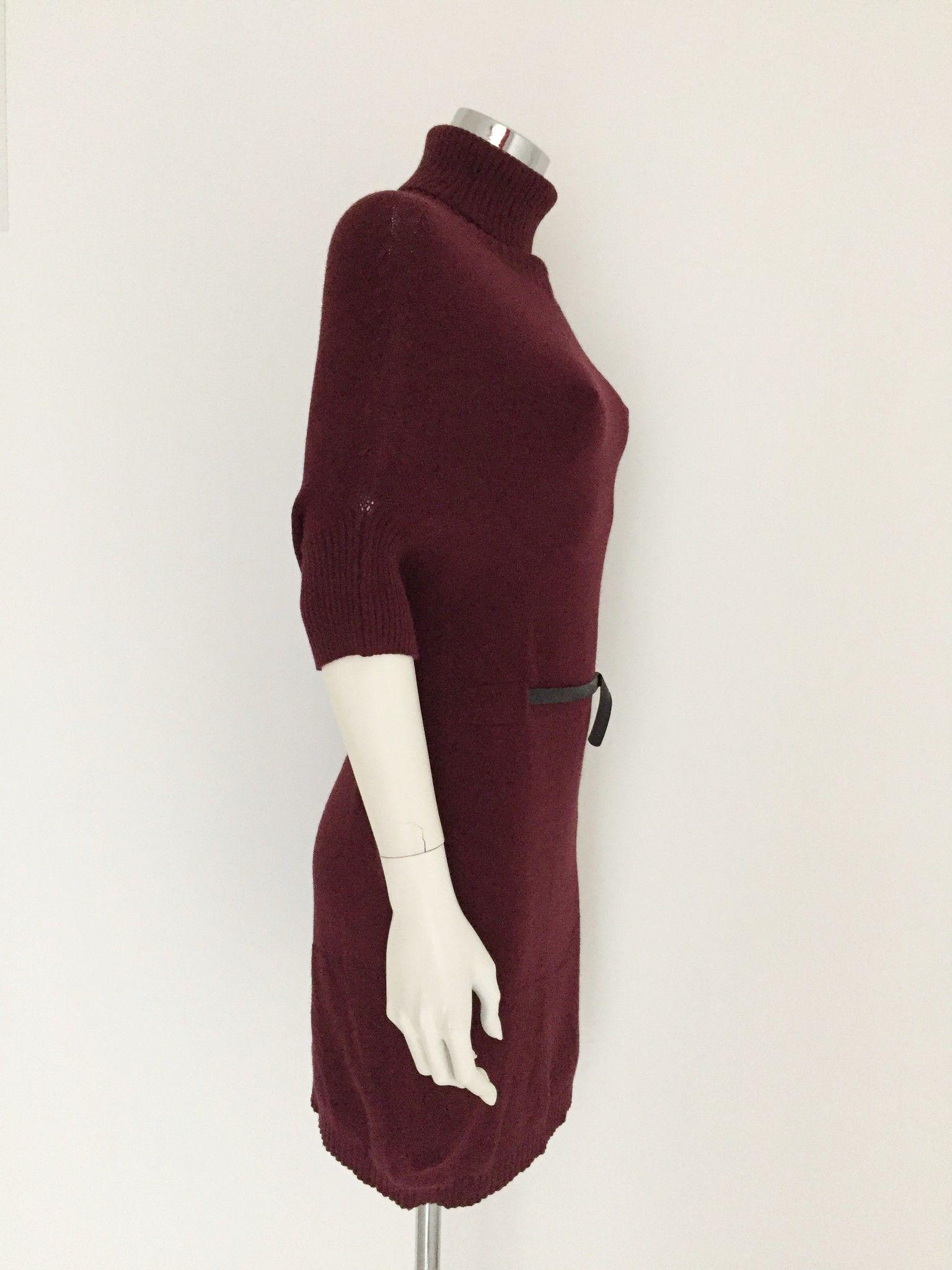 LadyBug Maxi Sweater Short Sleeve Polo Neck Cod.7013N