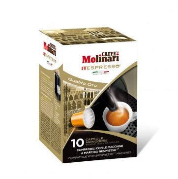 CAFFE' MOLINARI MISCELA ORO COMPATIBILI NESPRESSO - CAPSULE 10