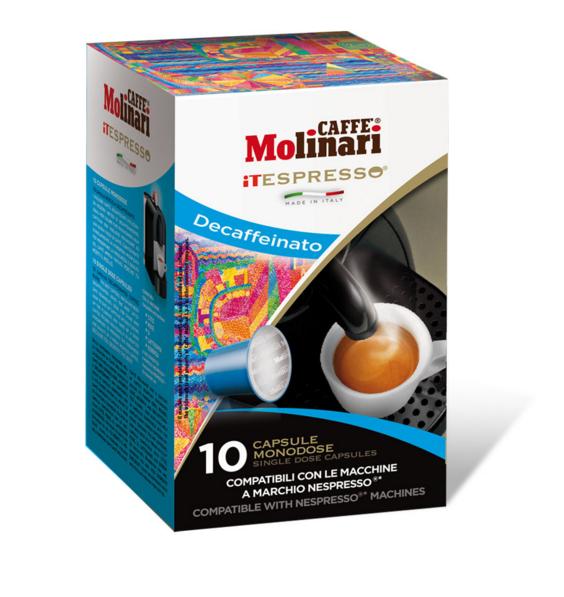 CAFFE' MOLINARI ESPRESSO DECAFFEINATO COMPATIBILI NESPRESSO - CAPSULE 10