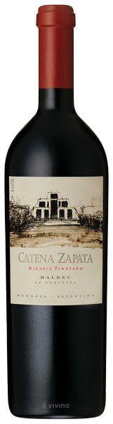 CATENA ZAPATA - NICASIA VINEYARD MALBEC 2014 - CASSA IN LEGNO DA 6 BOTTIGLIE - CL. 75