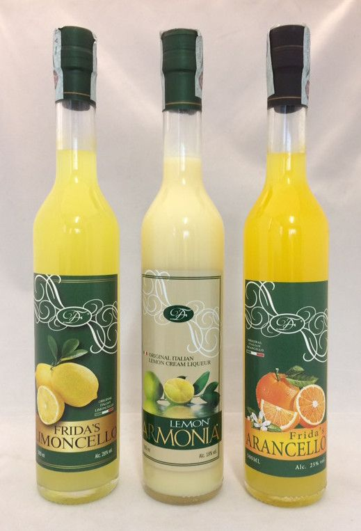 DONNA FRIDA - LEMON'ARMONIA 500 ML + FRIDA'S ARANCELLO 500 ML + FRIDA'S LIMONCELLO 500 ML - 3 BOTTIGLIE