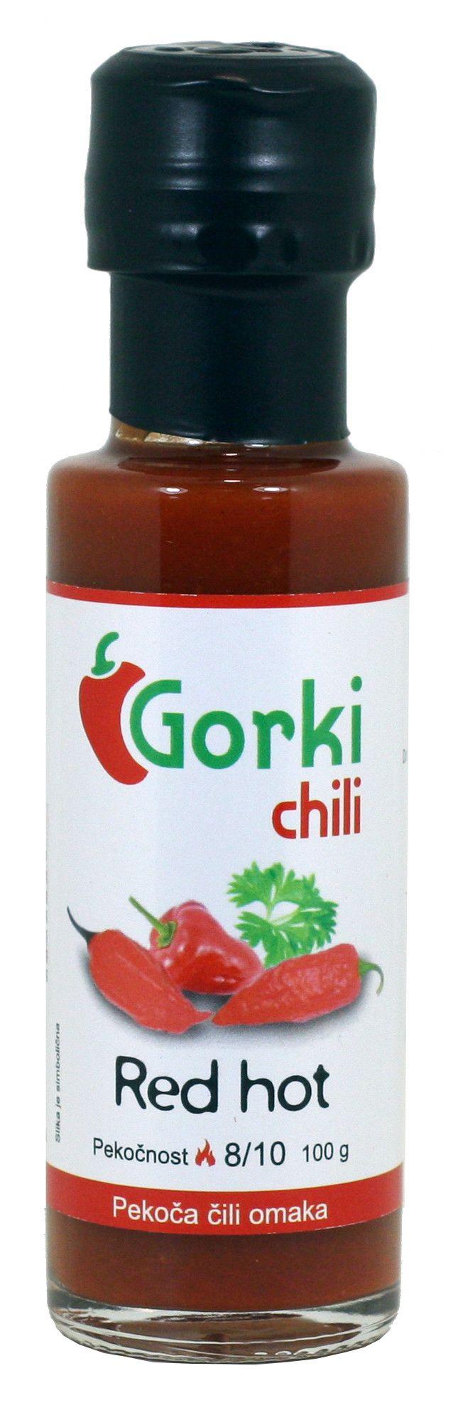 GORKI CHILI - SALSA PICCANTE RED HOT GR. 100