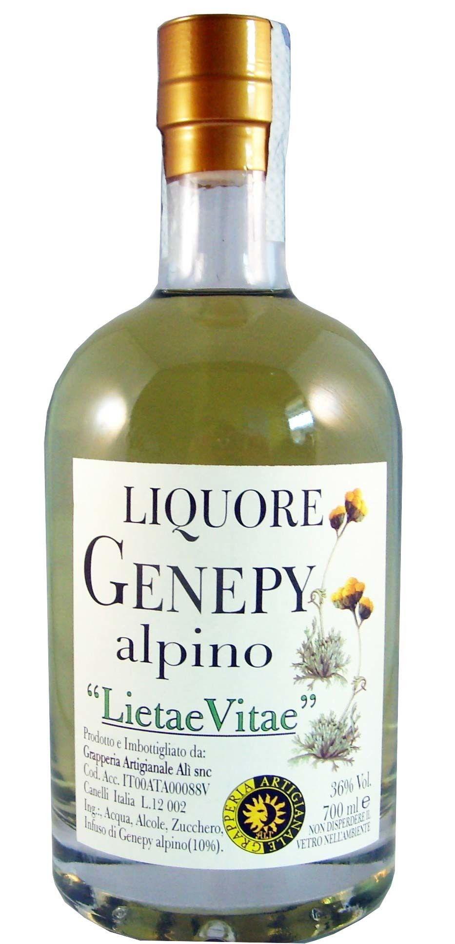 GRAPPERIA ARTIGIANALE ALI' - LIQUORE GENEPY ALPINO 36° - BOTTIGLIA ML 700