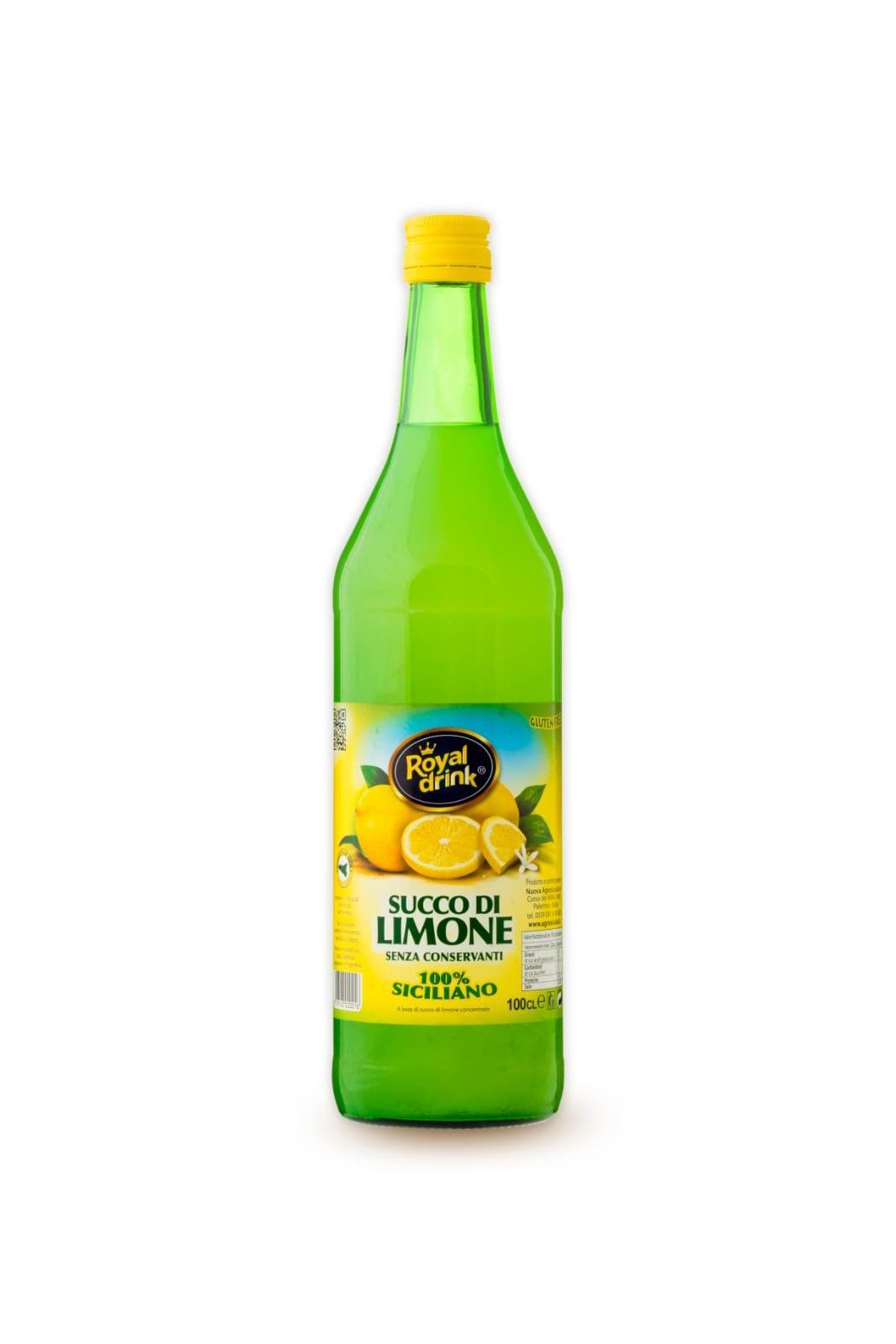 ROYAL DRINK - SUCCO DI LIMONE NATURALE 100% - LT. 1