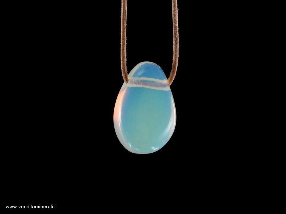 Pendente in vetreo sintetico(opale)