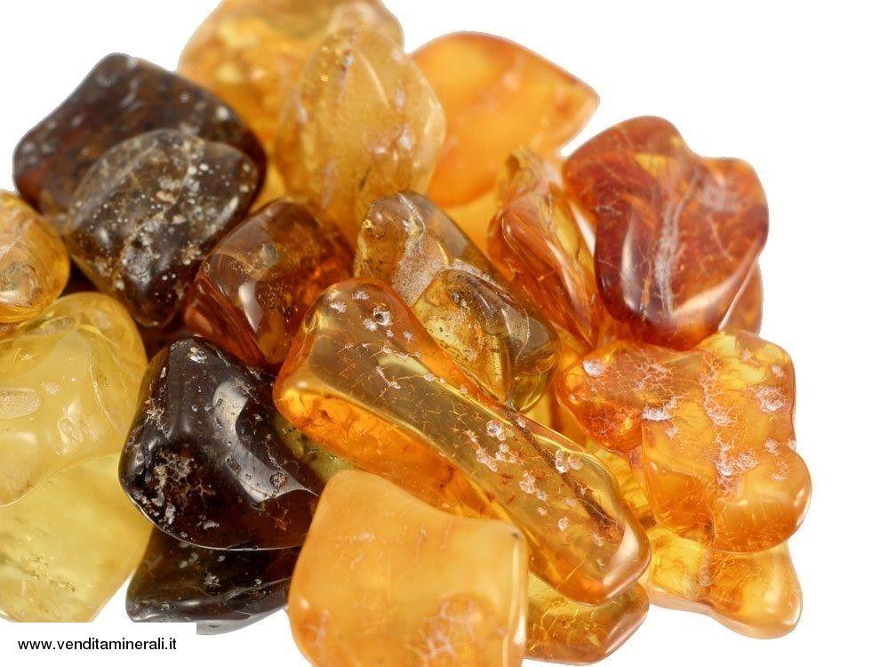 Ambra - Baltico - pietre burattate 50 g