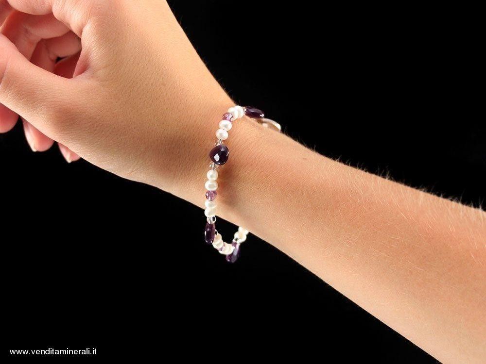 Raffinato braccialetto di ametista