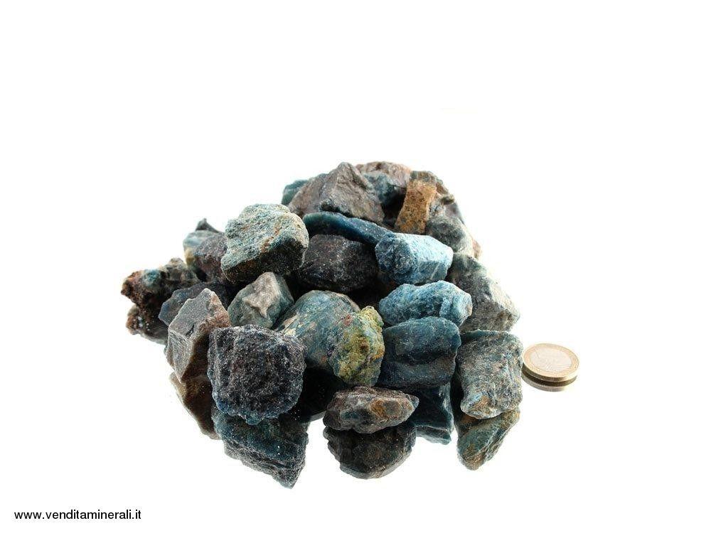 Apatite - piccole pietre grezze (2-4 cm) - 1 kg