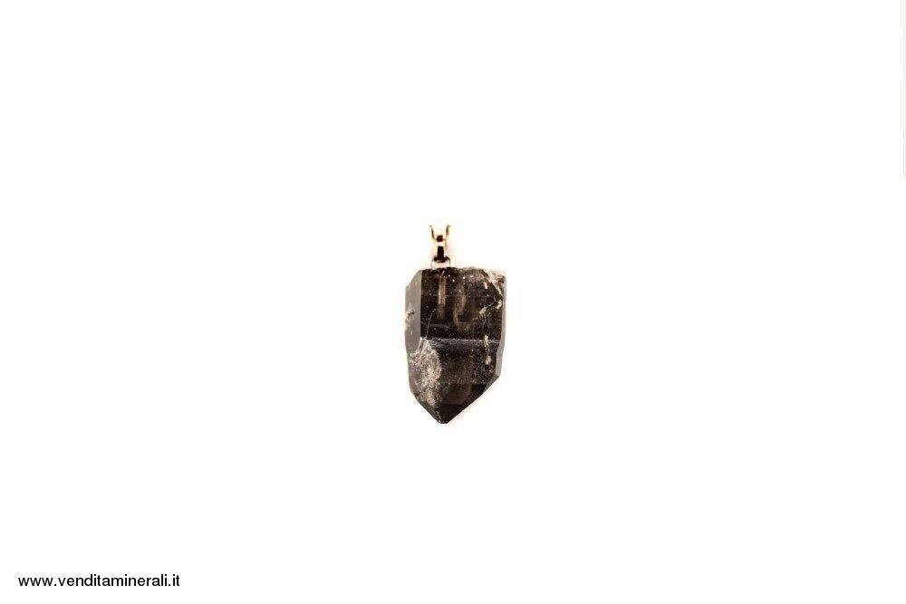 Pendente in argento 925 e in quarzo fumé