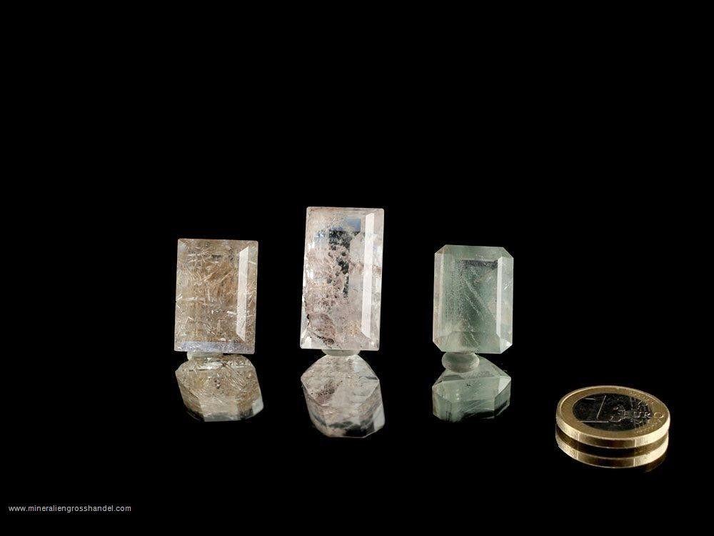 Inclusione cristalli sfaccettati di montagna- 3 pz