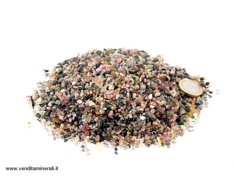 Tormalina multicolore micro pietre burattate - 0,5 kg