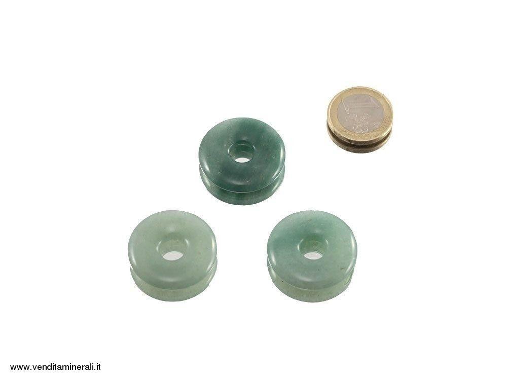 Avventurina a forma di ciambelle - 30 mm