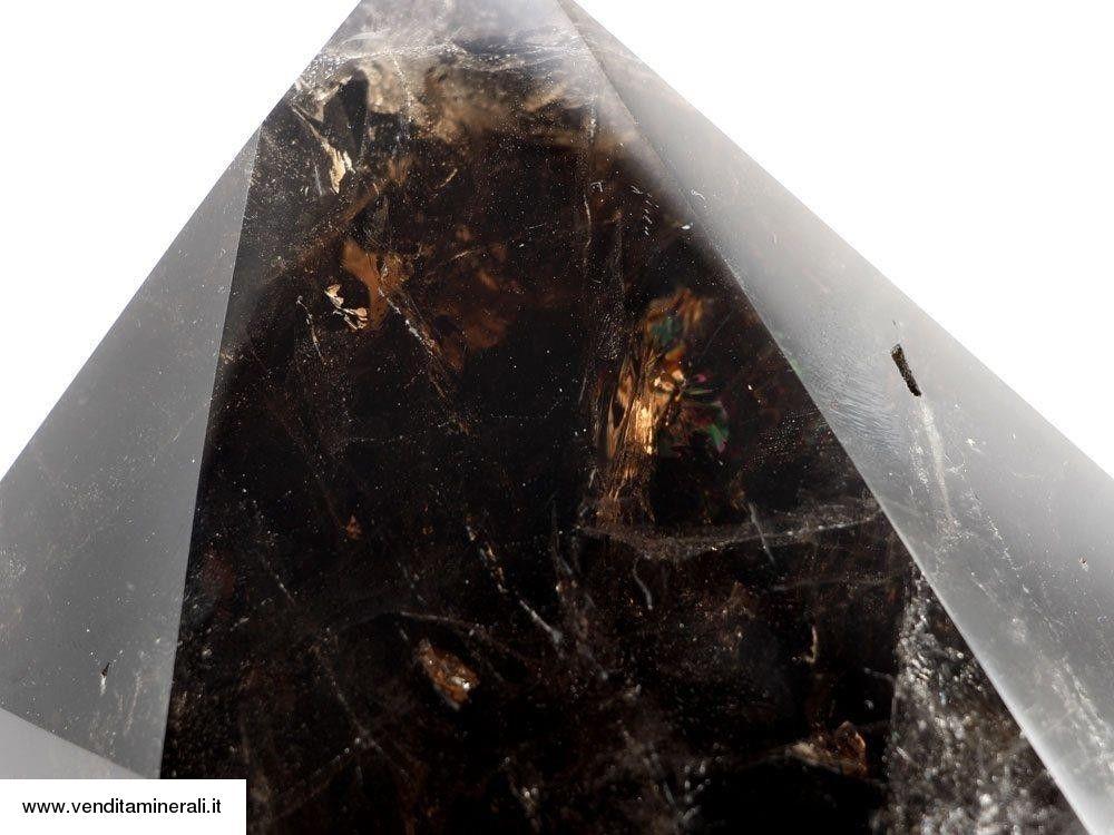 Punta in cristallo di quarzo fumé - lucido