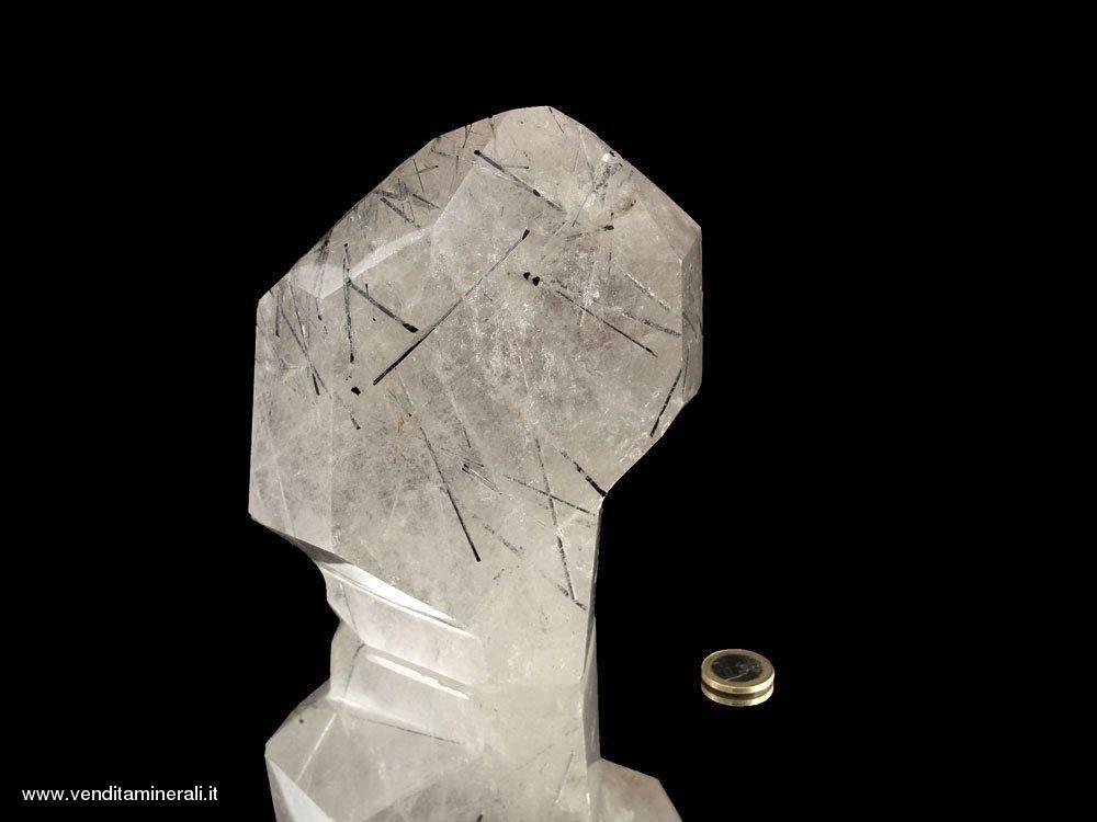 Quarzo tormalina - cristallo lucido