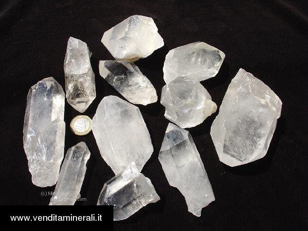1 kg di cristalli di roccia 6 - 10 cm