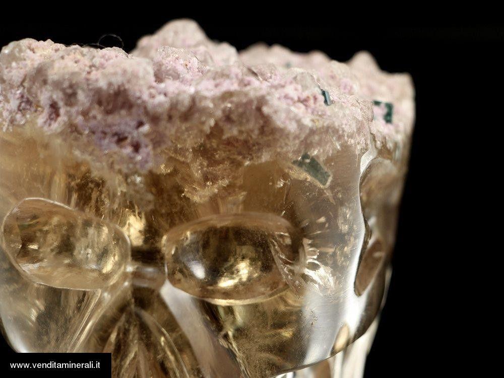 Teschio di cristallo in citrino naturale