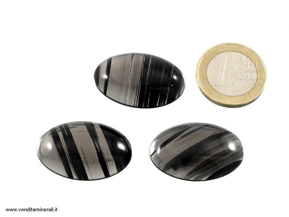 Lamelle d'ossidiana Cabochon 30 x 20 mm