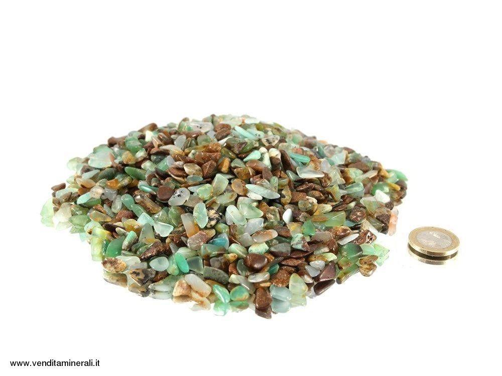 Pietre burattate mini di crisoprasio 0,5 kg