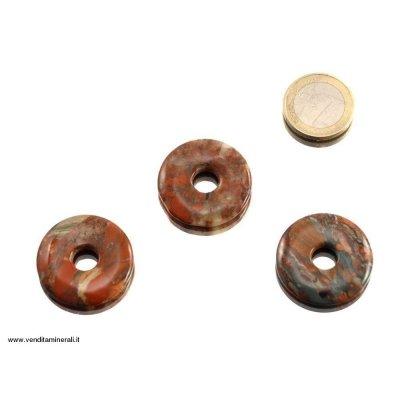Diaspro di terra a forma di ciambelle - 30 mm