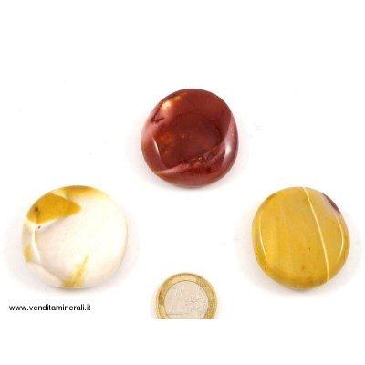 Pietre piatte tascabili di mookait- 1 pezzo