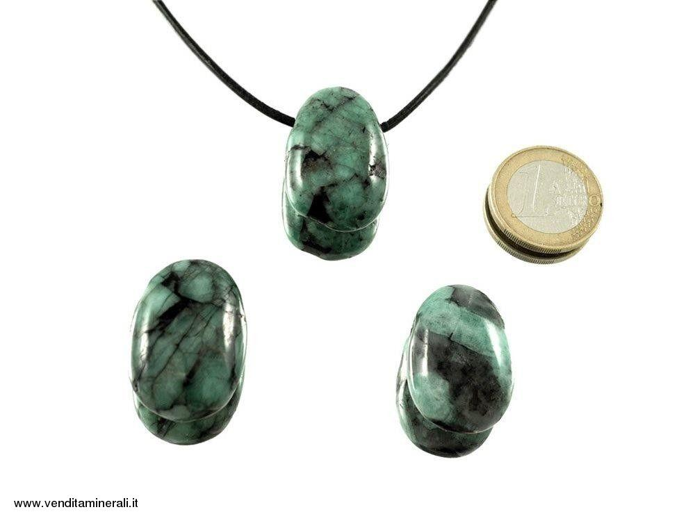 Ciondolo a goccia smeraldo