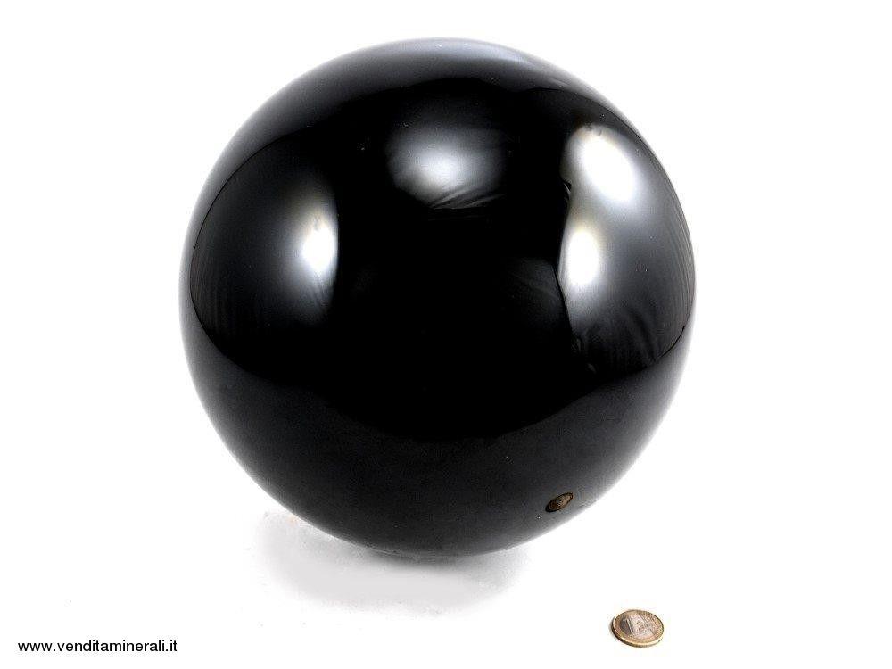 Palla di ossidiana nera - 23 cm