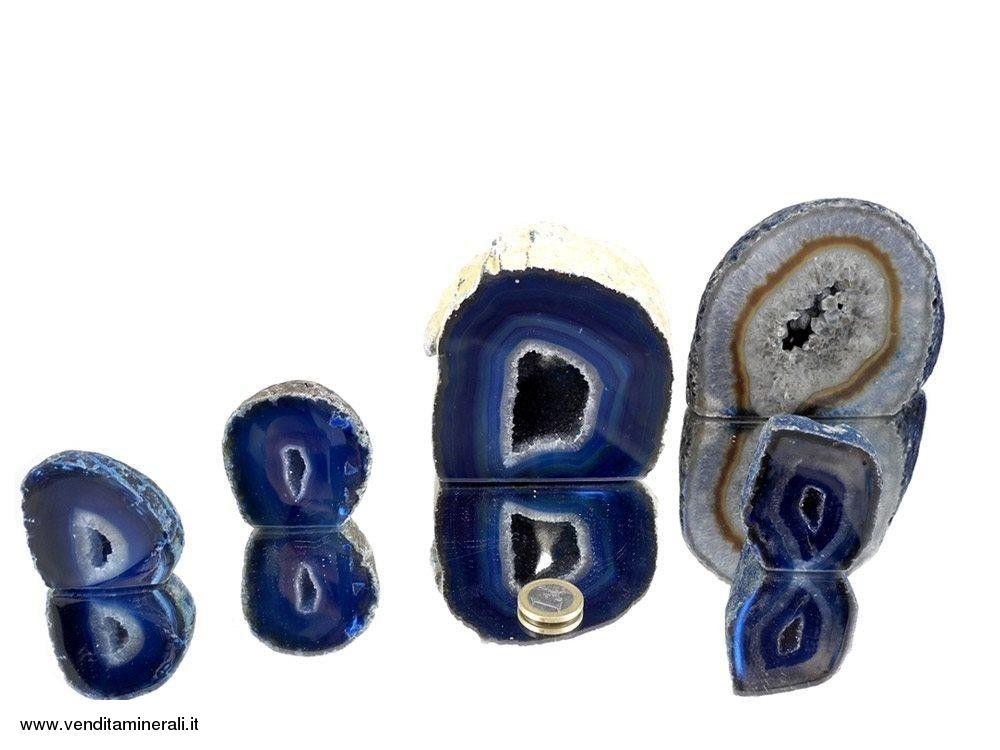 Agata sezionata lucidata blu - 1 kg