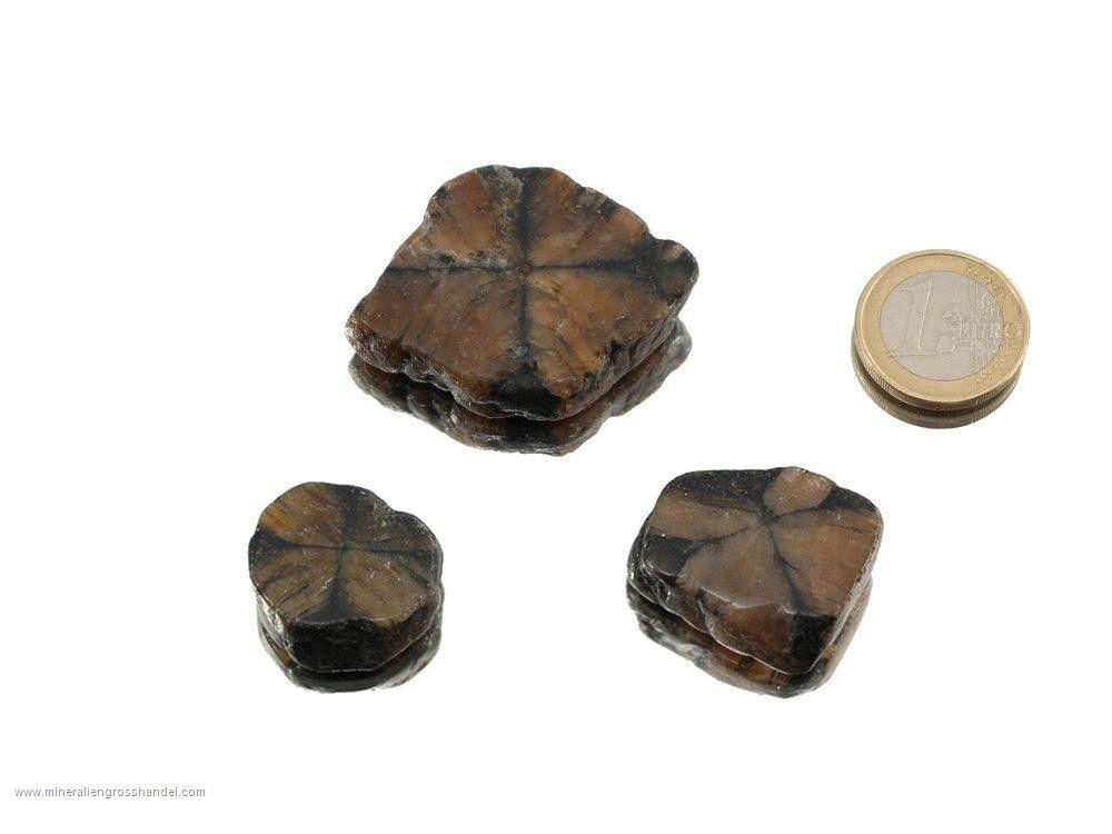 Chiastolite croce di pietra - 3 pezzi