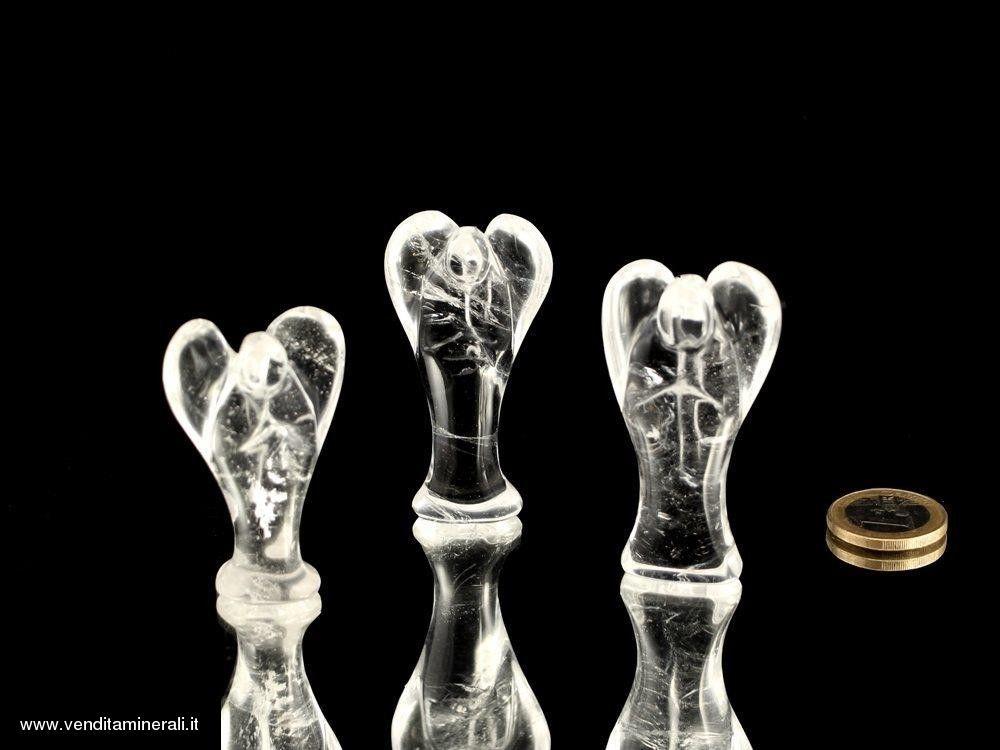 Angelo in cristallo di rocca -. 6 cm