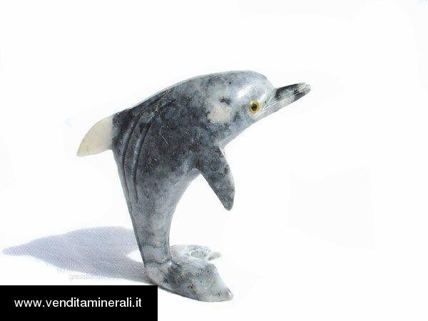 Delfino in marmo naturale