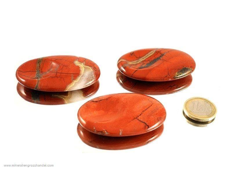 Diaspro rosso pietra per pollice - 1 pz