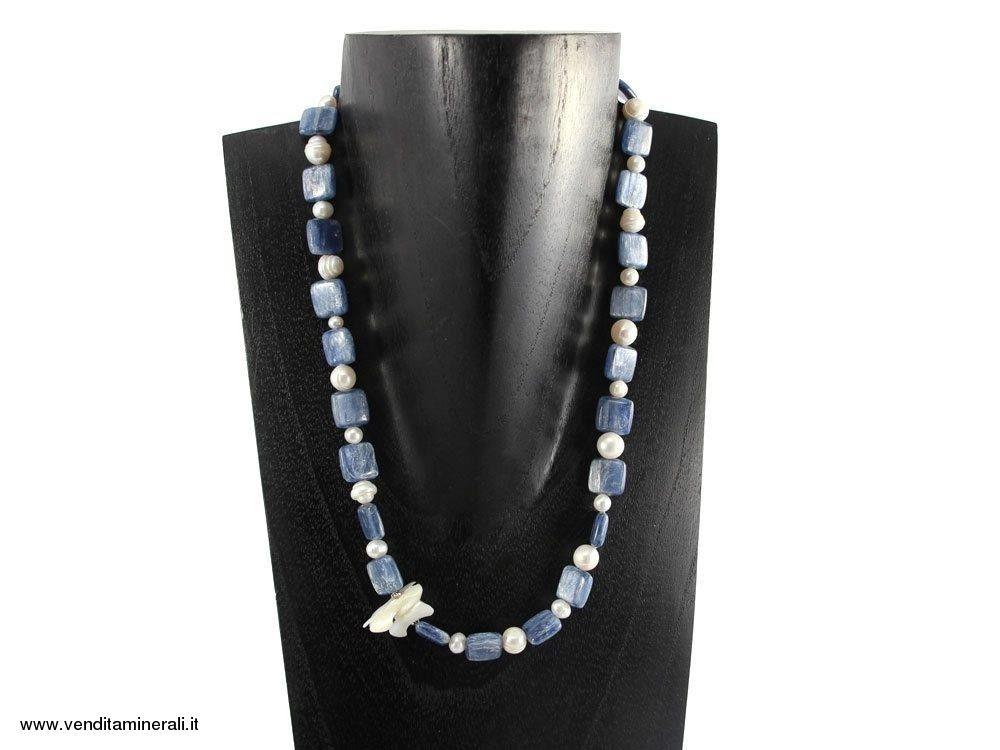 Collana di iperstene  con perle