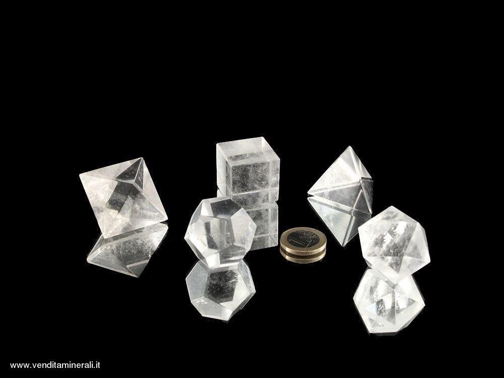 Set Platonico di Cristallo di Rocca