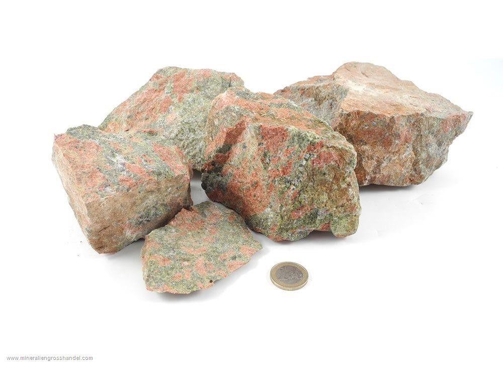 Pietre grezze di Unakite - 1 kg