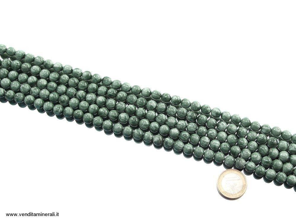 Catena di perle Serafinite - 8 mm