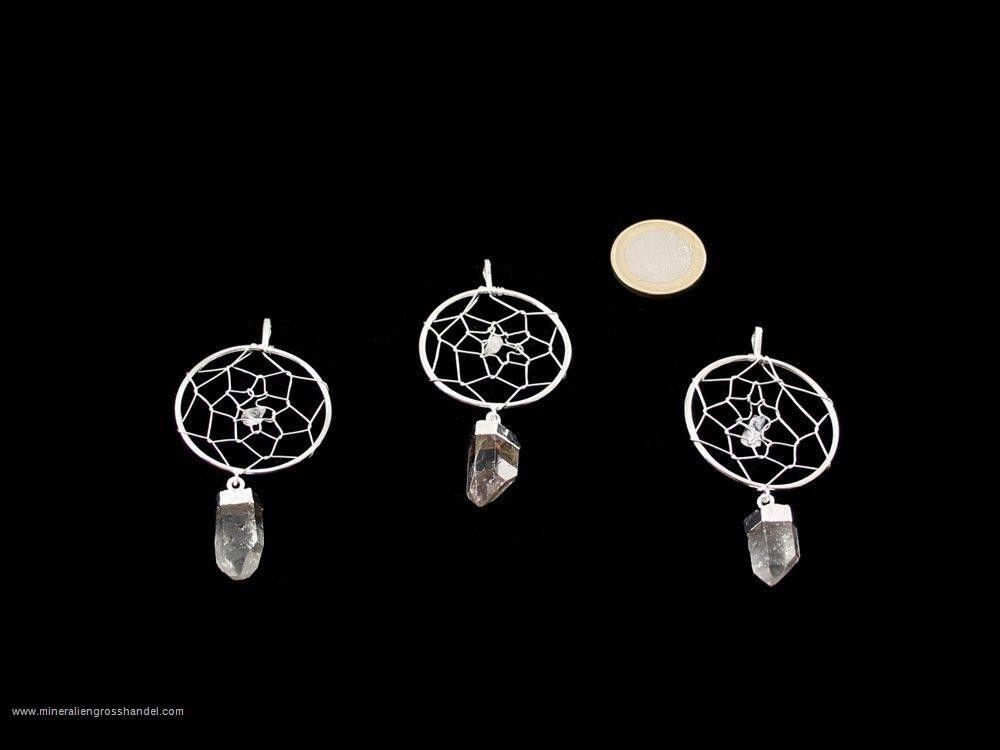 Ciondolo onirico ctristallo di roccia - Argento