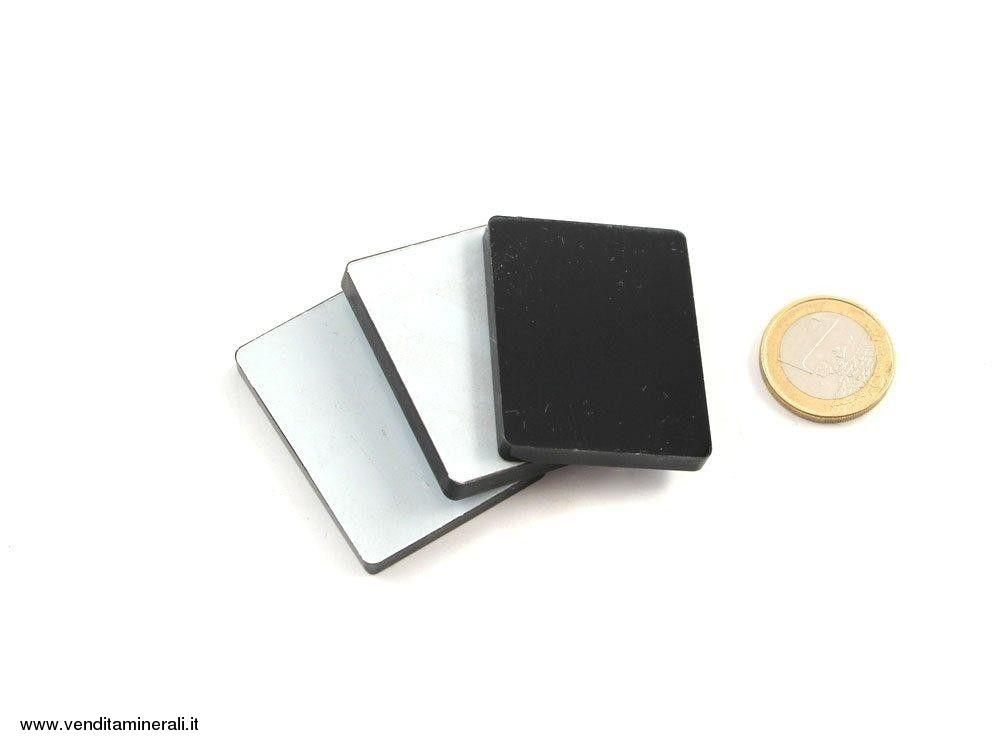 Base in plexiglass nero 3,5 x 4,5 cm