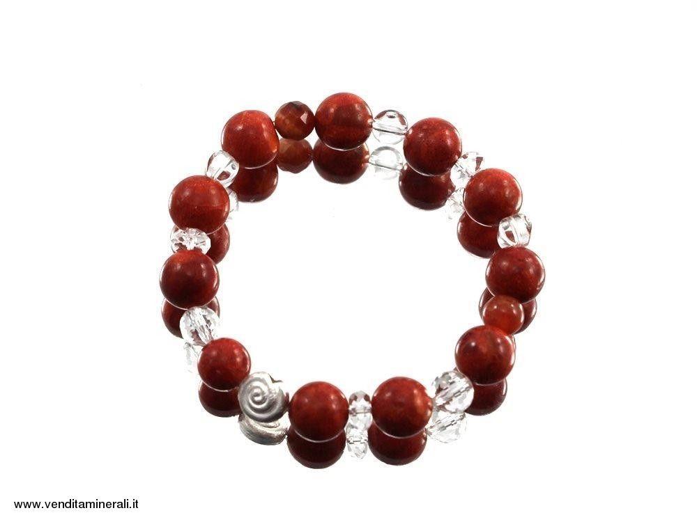 Braccialetto di corallo rosso