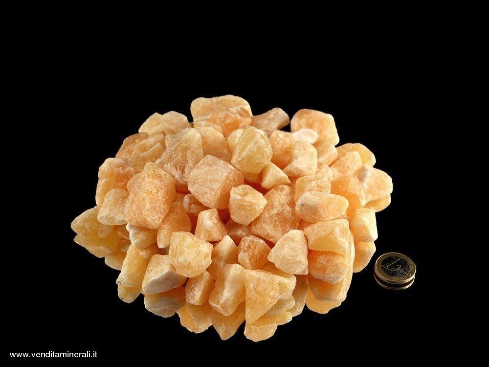 Calcite gialla - piccole pietre grezze (2-4 cm) - 1 kg