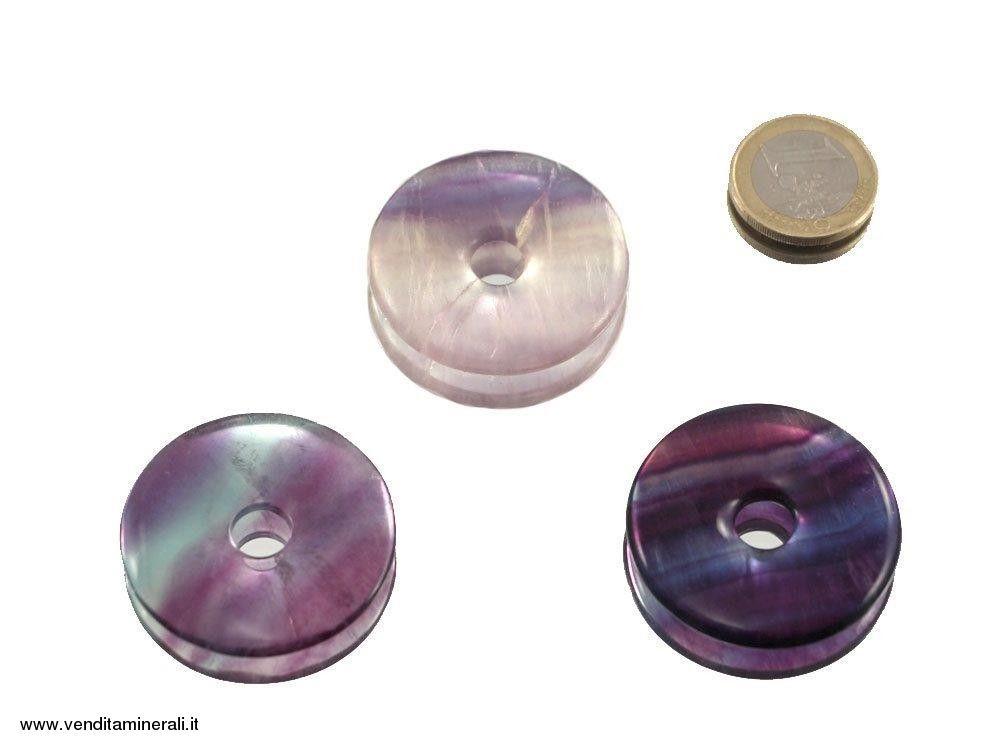 Fluorite arcobaleno a forma di ciambella - 40 mm