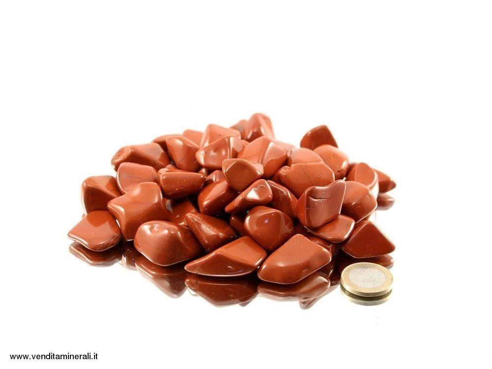 Diaspro con pietre martellate rosse - 0,5 kg