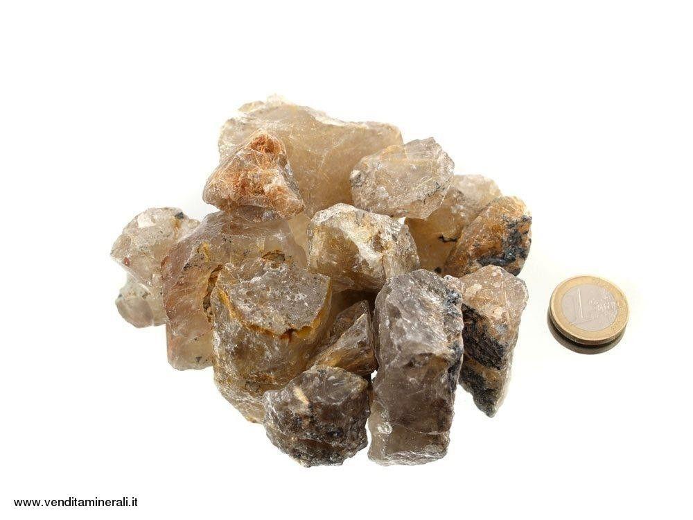 Pietre ruvide di quarzo rutilato - 0,5 kg