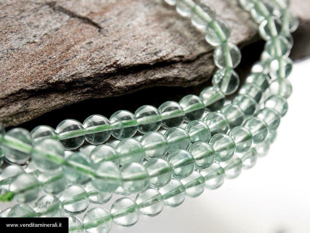 Filo della catena a palla verde fluorite da 8 mm