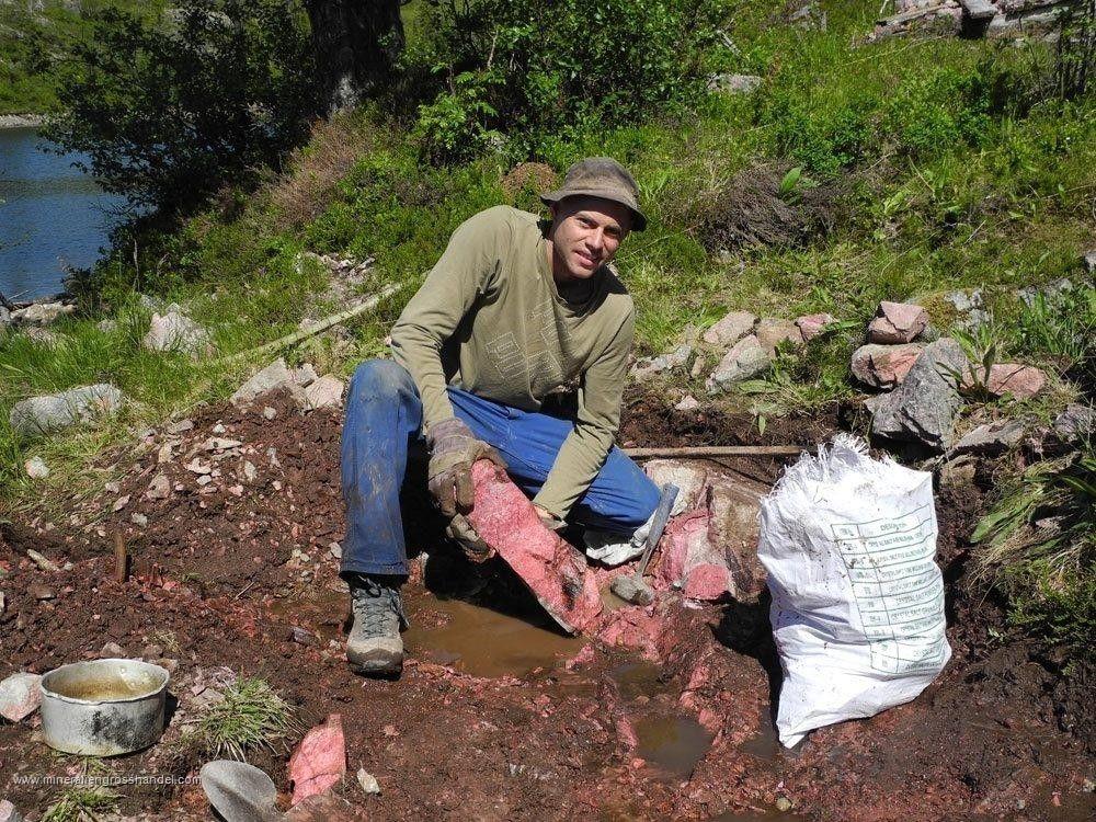 Pietre grezze di Thulite - 1 kg