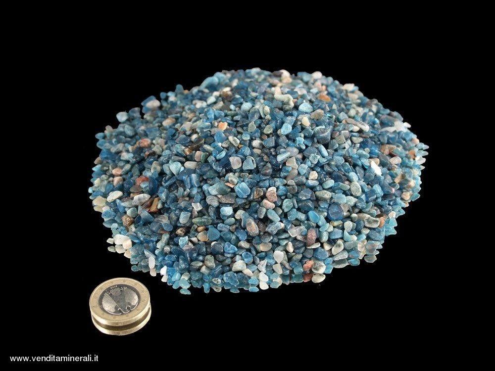 CIottoli di apatite blu - 0,5 kg