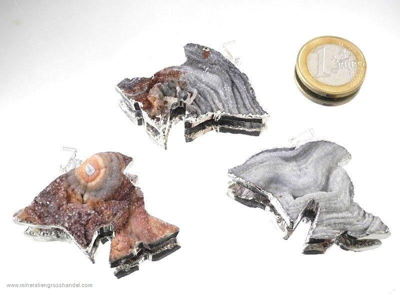 Ciondolo delfino agata serpente argento / oro