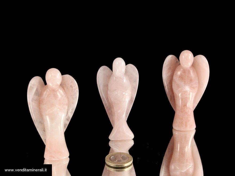 Angelo di Quarzo rosa - 7,5 cm