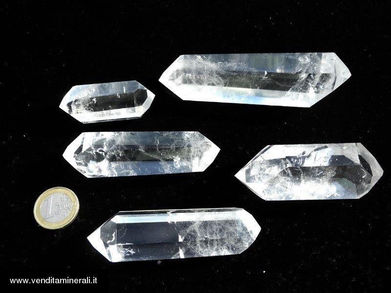 Cristallo di roccia lucido doppio -0,5kg