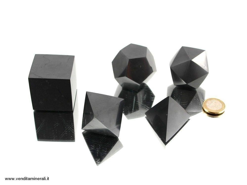 Set corpi platonici - Shungite